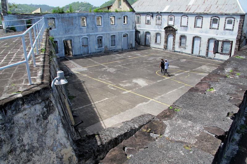 This picture taken Sunday, June 3, 2012, shows the courtyard at Fort George, formerly known as Fort Rupert, where Grenada's former Prime Minister Maurice Bishop and seven others, including cabinet ministers, were captured and executed by an army firing squad on Oct. 14, 1983 in St. George's, Grenada. A haunting Cold War mystery is getting a fresh look on the Caribbean island of Grenada, where the body of the Marxist prime minister is still missing nearly 30 years after he was executed during a bloody coup that sparked a U.S. invasion. (AP Photo/David McFadden)