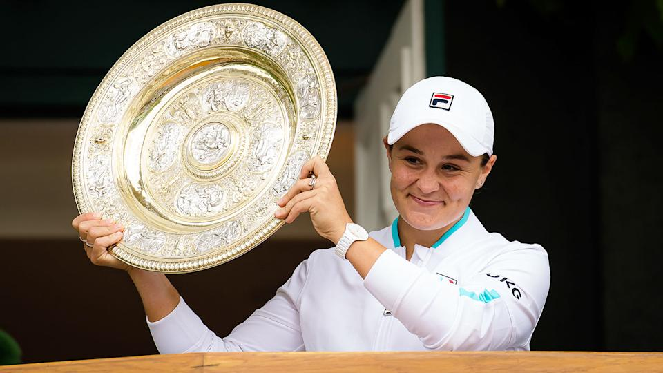 Ash Barty cemented her status as the best women's player in the world after winning the 2021 Wimbledon title. Pic: AAP