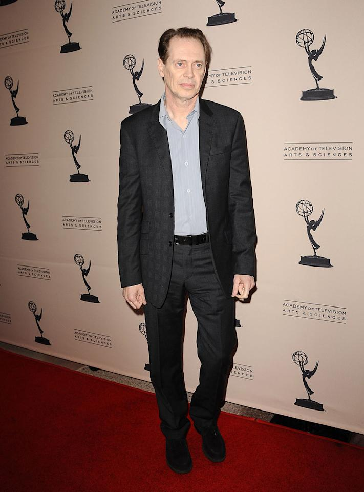 "Steve Buscemi arrives at The Academy of Television Arts & Sciences Presents An Evening With ""<a href=""http://tv.yahoo.com/boardwalk-empire/show/41428"">Boardwalk Empire</a>"" event at Leonard H. Goldenson Theatre on April 26, 2012 in North Hollywood, California."