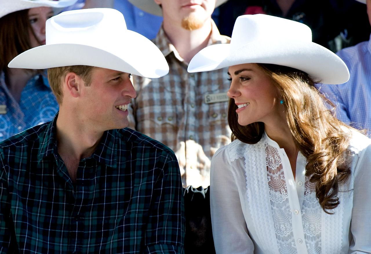 Prince William and the Duchess of Cambridge attend the Calgary Stampede on July 8, 2011.