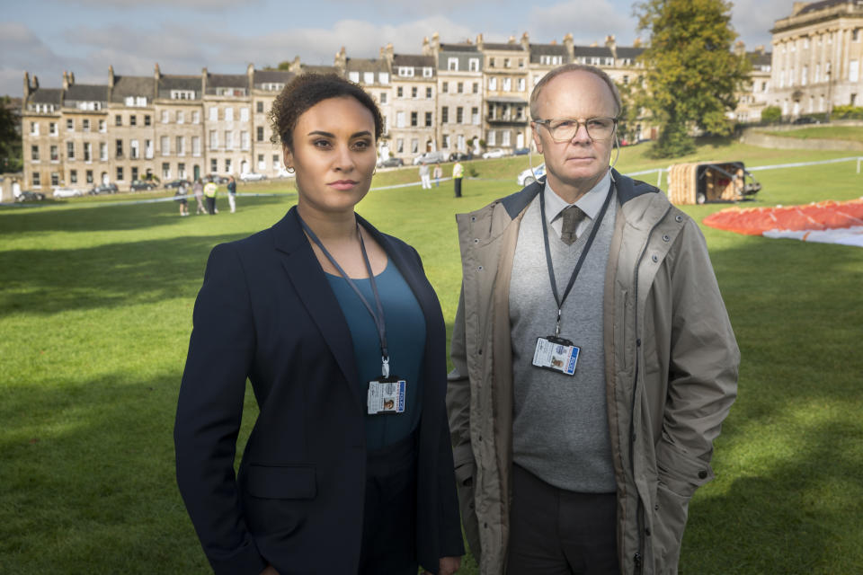 Jason Watkins as DS Dodds and Tala Gouveia as DCI Lauren McDonald. (Mammoth Screen/ITV)
