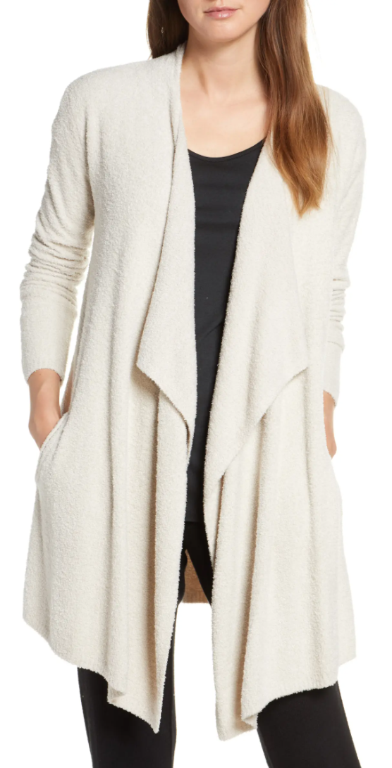 Barefoot Dreams CozyChicLite Island Cardigan in Bisque