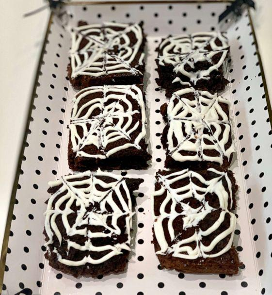 PHOTO: I made Pinterest's top trending Halloween recipes, which included Spiderweb Brownies. ( )