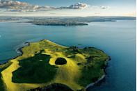 <p>Nothing but blue skies over Browns Island in the Hauraki Gulf.</p>