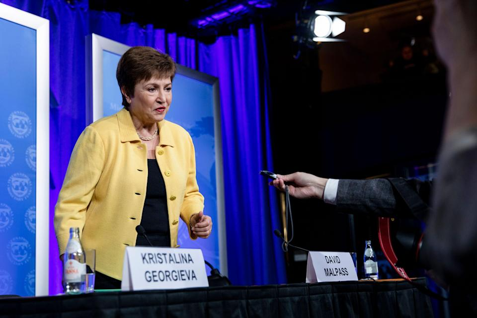 La directora gerente del Fondo Monetario Internacional (FMI), Kristalina Georgieva (Photo: Samuel Corum via Getty Images)