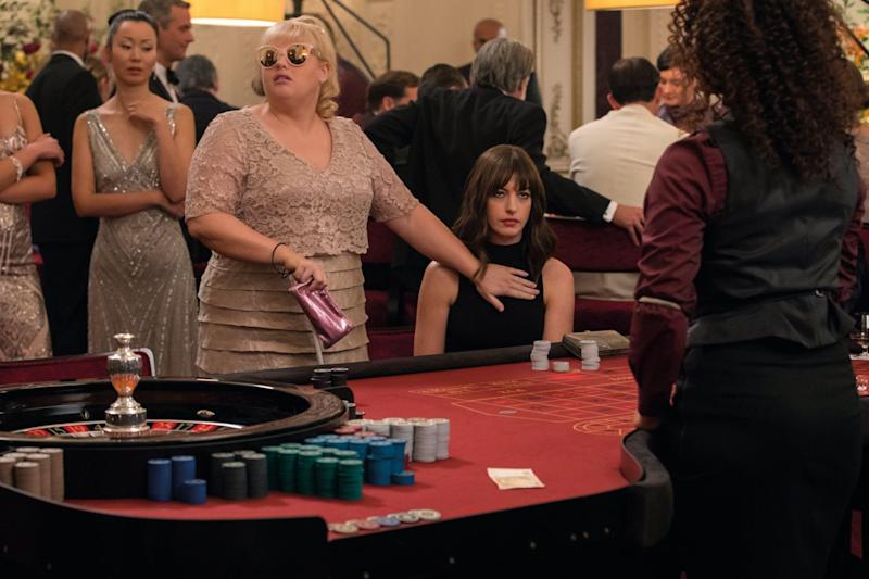 Rebel Wilson and Anne Hathaway in The Hustle (Credit: Universal Pictures)