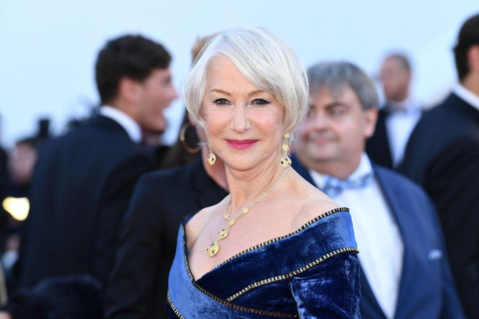 <p>Embrace those grays by blending silver dye with your gray roots. The result is a cool silver that will make you look cool at any age, like the gorgeous Helen Mirren.</p>
