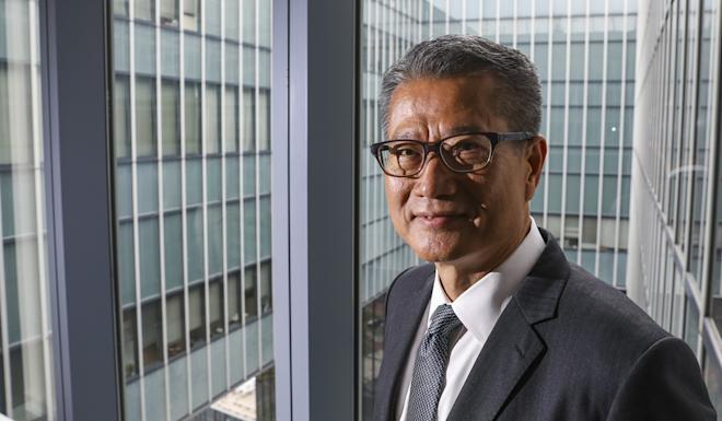 Finacial Secretary Paul Chan said he was not worried about growing competition from Shanghai and Shenzhen, as the city had always been 'free and open'. Photo: Dickson Lee