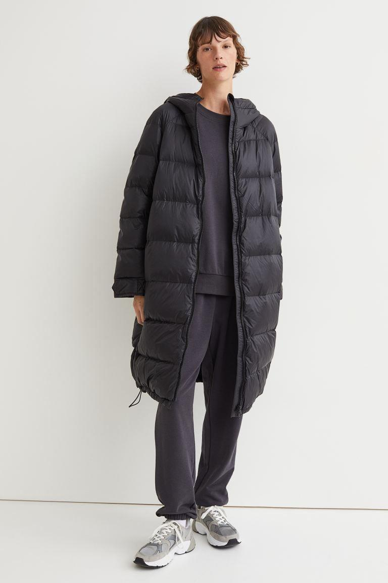 <p>Sometimes, fall days can be super chilly. When the wind picks up, you want this <span>H&amp;M Knee-length Down Jacket</span> ($99) at your disposal.</p>