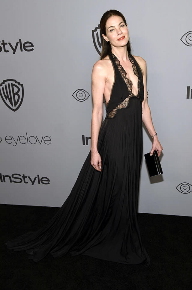 <p>Michelle Monaghan attends the InStyle and Warner Bros. Golden Globes party at the Beverly Hilton Hotel. (Photo: Chris Pizzello/Invision/AP) </p>