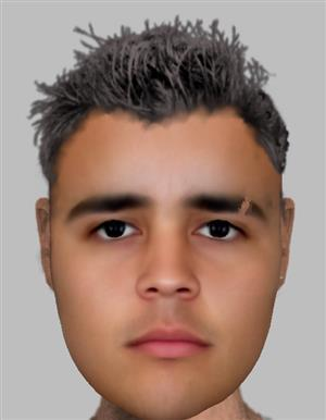 Police released an e-fit of the suspect.
