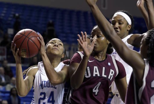 Rowe leads Middle Tennessee past UALR 53-48