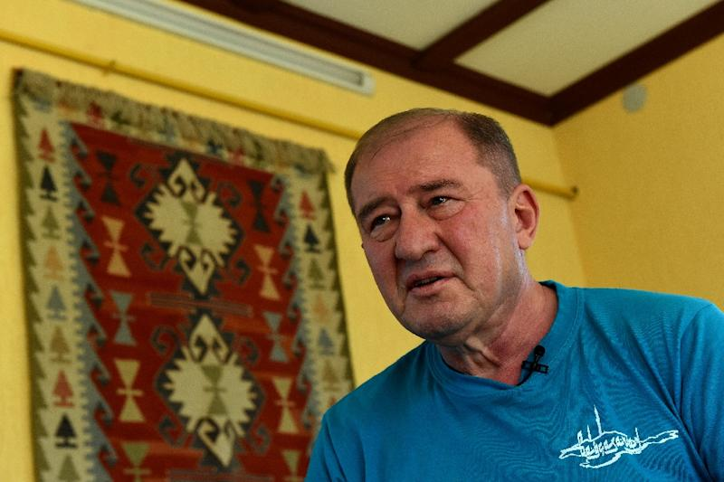 Crimean Tatar activist Ilmi Umerov, seen here in September 2016, remains at large pending an appeal (AFP Photo/VASILY MAXIMOV)
