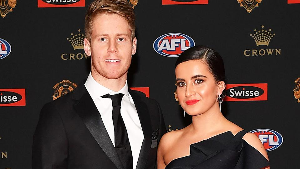 Lachie Hunter and Maddison Sullivan-Thorpe, pictured here at the 2016 Brownlow Medal.