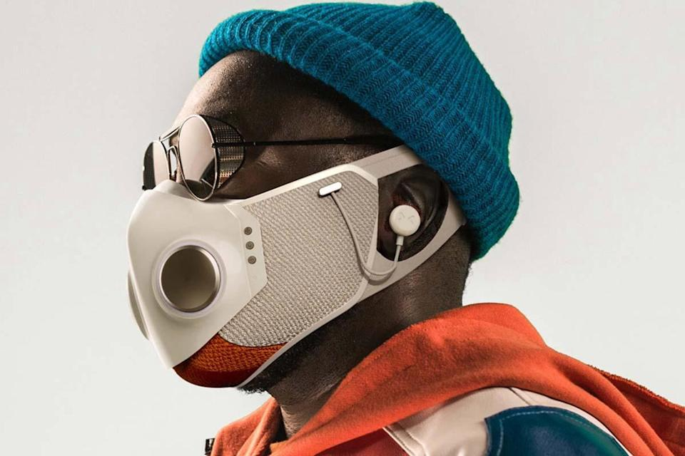 Will.i.am. in the Xupermask, a co-creation with Honeywell