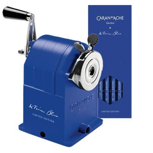 """<p><a class=""""link rapid-noclick-resp"""" href=""""https://www.papersmiths.co.uk/collections/tools/products/desktopsharpener-kleinblue"""" rel=""""nofollow noopener"""" target=""""_blank"""" data-ylk=""""slk:SHOP"""">SHOP</a></p><p>The tricky part about working from home is getting your brain to realise, although you're now at home, that it's time to work. To aid you in this mental battle and help make your desk feel like a working environment. Consider decorating it with stationary, especially fancy pencils and an old school pencil sharpening machine from Caran D'Ache. </p><p>Caran D'Ache x Yves Klein Pencil Sharpener, £225, <a href=""""https://www.papersmiths.co.uk/collections/tools/products/desktopsharpener-kleinblue"""" rel=""""nofollow noopener"""" target=""""_blank"""" data-ylk=""""slk:papersmiths.co.uk"""" class=""""link rapid-noclick-resp"""">papersmiths.co.uk</a></p>"""