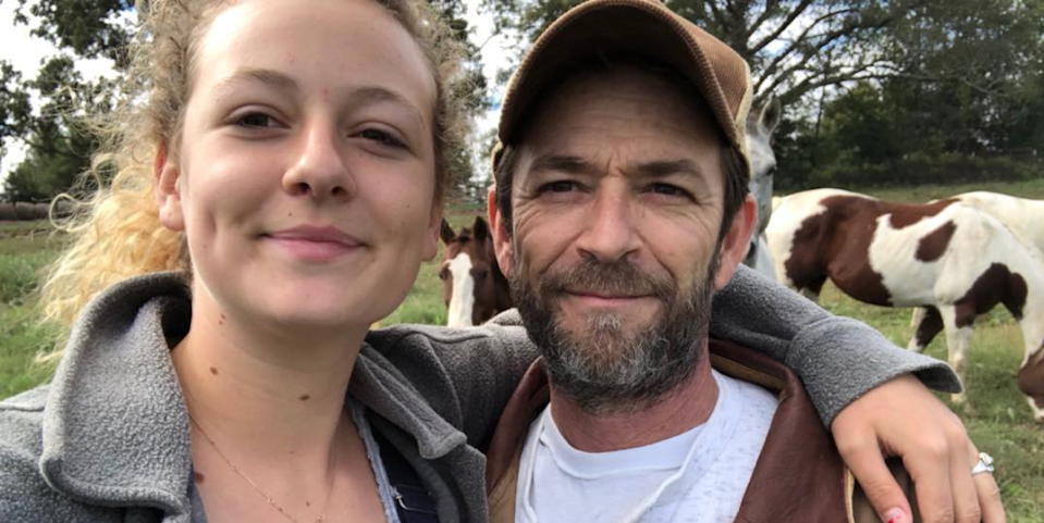 Sophie Perry and her dad, Luke Perry (Credit: Instagram)