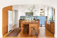 <p>This kitchen renovation by Steve Pallrand of Home Front Build is truly stunning. The gorgeous blue backsplash tile along with the vintage introduce warmth and character that fit right in with the reclaimed floors and cabinets. From the prep sink to the gorgeous arches, we've met our dream kitchen. </p>