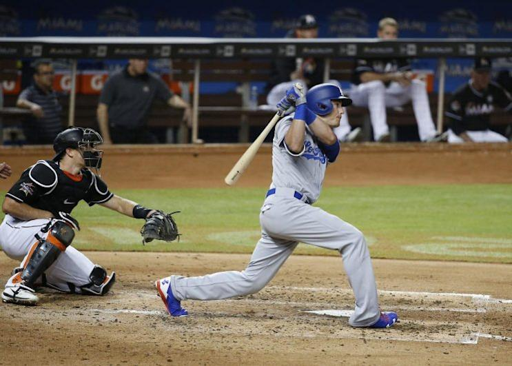 Dodgers rookie Cody Bellinger makes history again by hitting for the cycle. (AP)