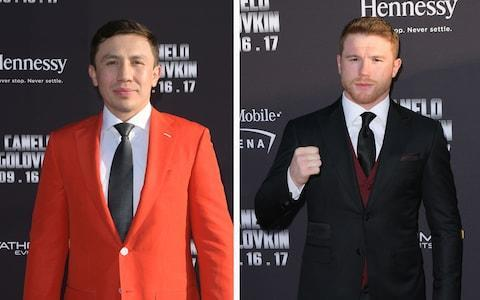 <span>Gennady Golovkin (left) puts his unbeaten record on the line against Canelo Alvarez</span> <span>Credit: Getty Images </span>