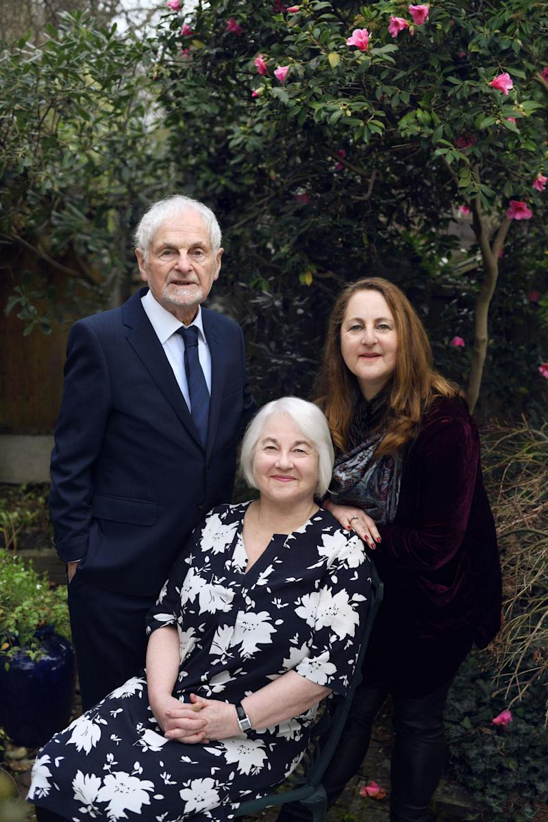 Joan Salter with husband Martin and daughter Shelley (Frederic Aranda/PA Wire)