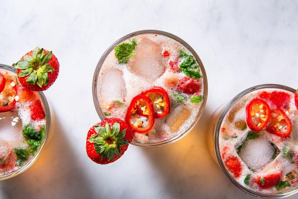 """<p>Not just for Derby day.</p><p>Get the recipe from <a href=""""https://www.delish.com/cooking/recipe-ideas/a32783504/strawberry-mint-julep-recipe/"""" rel=""""nofollow noopener"""" target=""""_blank"""" data-ylk=""""slk:Delish"""" class=""""link rapid-noclick-resp"""">Delish</a>.</p>"""