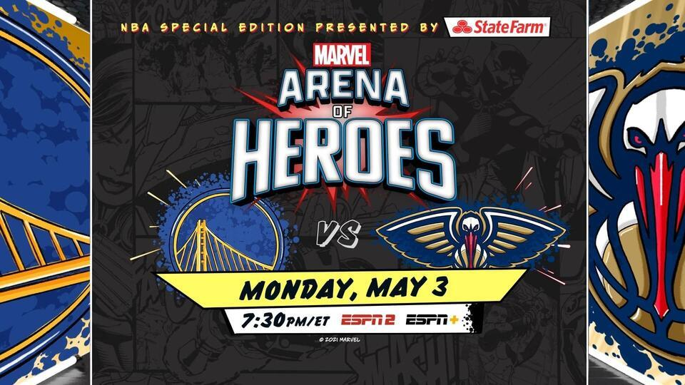 NBA's Marvel-themed Arena of Heroes game