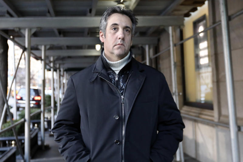 Michael Cohen, Trump's former personal attorney, pleaded guilty last week to lying to Congress. (ASSOCIATED PRESS)