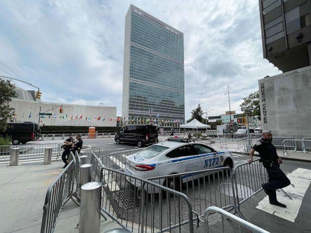 PHOTO: The United Nations headquarters during annual meetings in New York City, Sept. 22, 2021. (Daniel Slim/AFP via Getty Images)