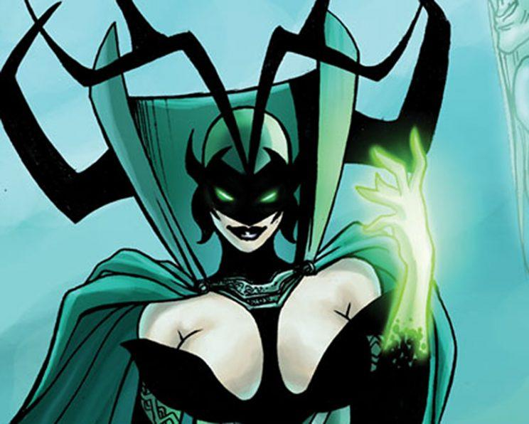 The comic-book Hela.