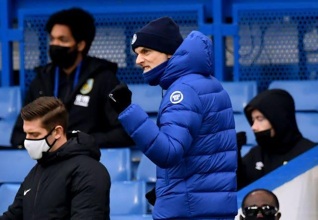 Chelsea manager Thomas Tuchel salutes Marcos Alonso, not pictured, sealing the first win of his Stamford Bridge reign. Former Borussia Dortmund and Paris St Germain boss Tuchel arrived in English football in January to replace the sacked Frank Lampard and sufficiently revived the club's fortunes to secure Champions League qualification. The German also guided the Blues to the finals of the FA Cup and the Champions League. After overseeing a goalless draw against Wolves in the immediate aftermath of Lampard's exit, strikes from Cesar Azpilicueta and Alonso gave Tuchel a 2-0 win over Burnley four days later