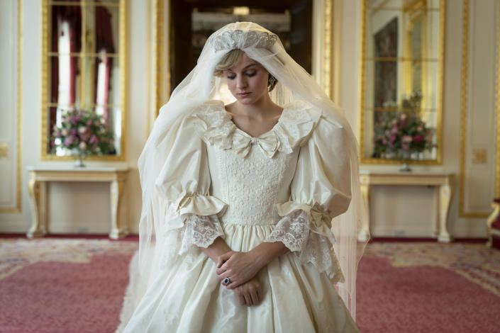 """Diana Princess of Wales, played by Emma Corrin, in season 4 of 'The Crown.'<span class=""""copyright"""">Des Willie/Netflix—Netflix 2020, Inc</span>"""