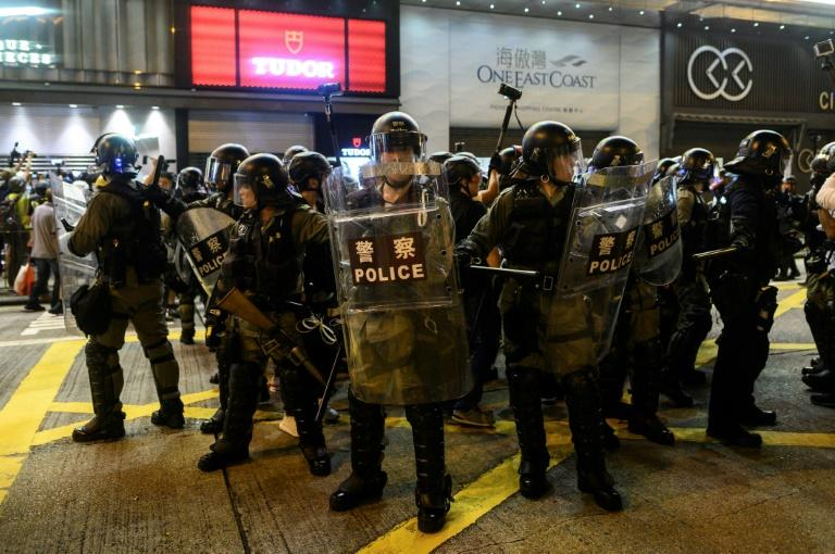 In the evening, riot police fought cat and mouse skirmishes with small groups of hardcore protesters in Mongkok, which has seen regular clashes