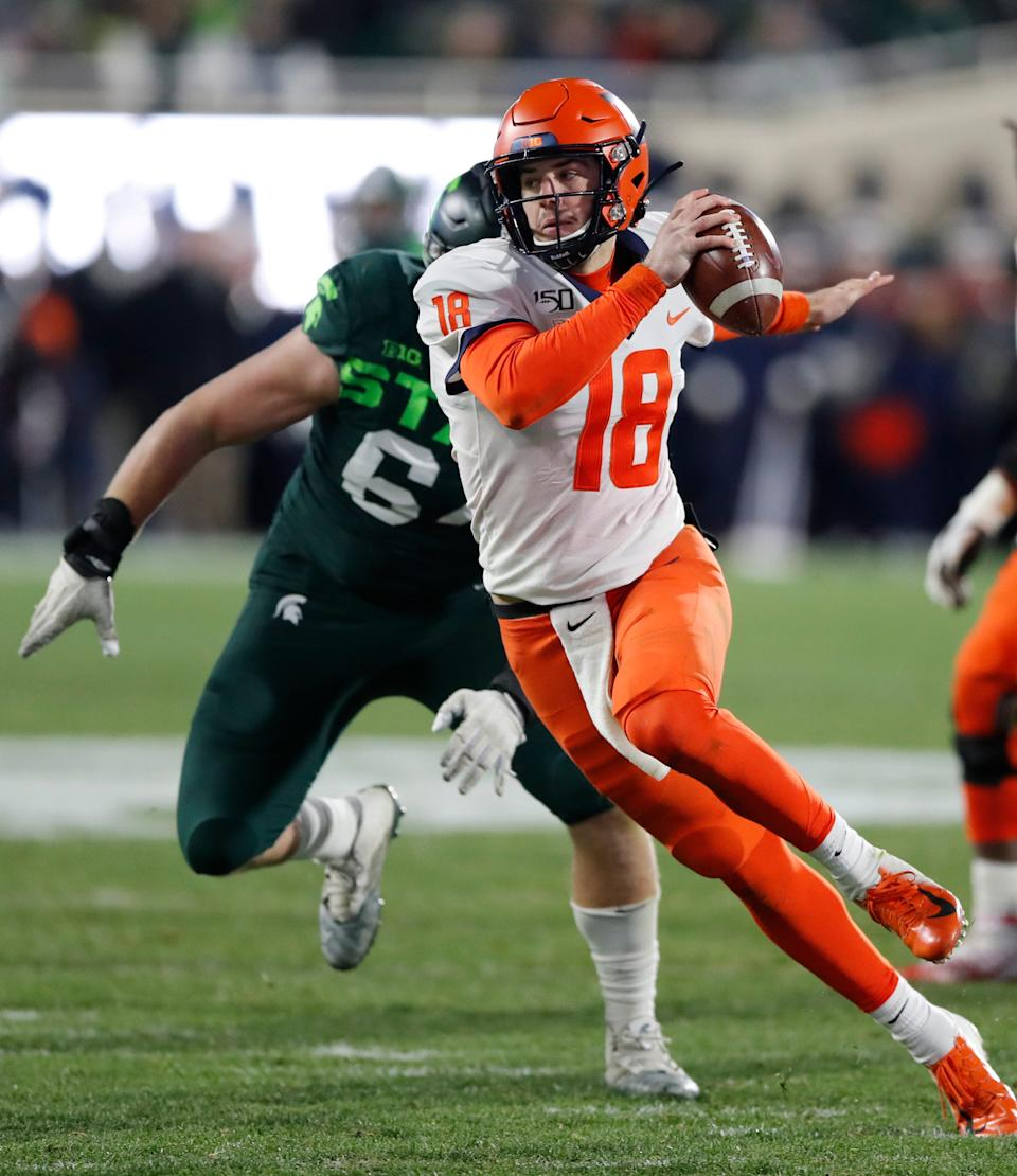 Illinois quarterback Brandon Peters has a solid hold on the Illini's job as the season begins.