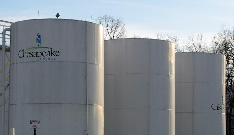 Chesapeake Energy's watertanks are ubiquitous in northeastern Pennsylvania, where the company is the lead driller of natural gas, December 12, 2011. (Kevin G. Hall/MCT)