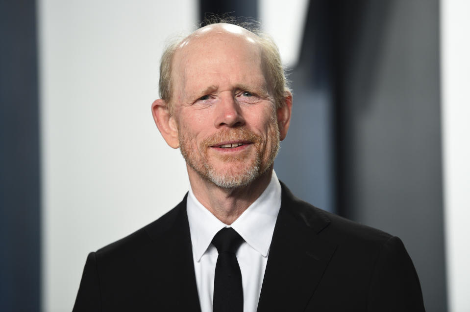 Ron Howard arrives at the Vanity Fair Oscar Party on Sunday, Feb. 9, 2020, in Beverly Hills, Calif. (Photo by Evan Agostini/Invision/AP)