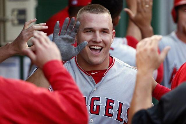 Mike Trout is the most marketable player in baseball. (AP)