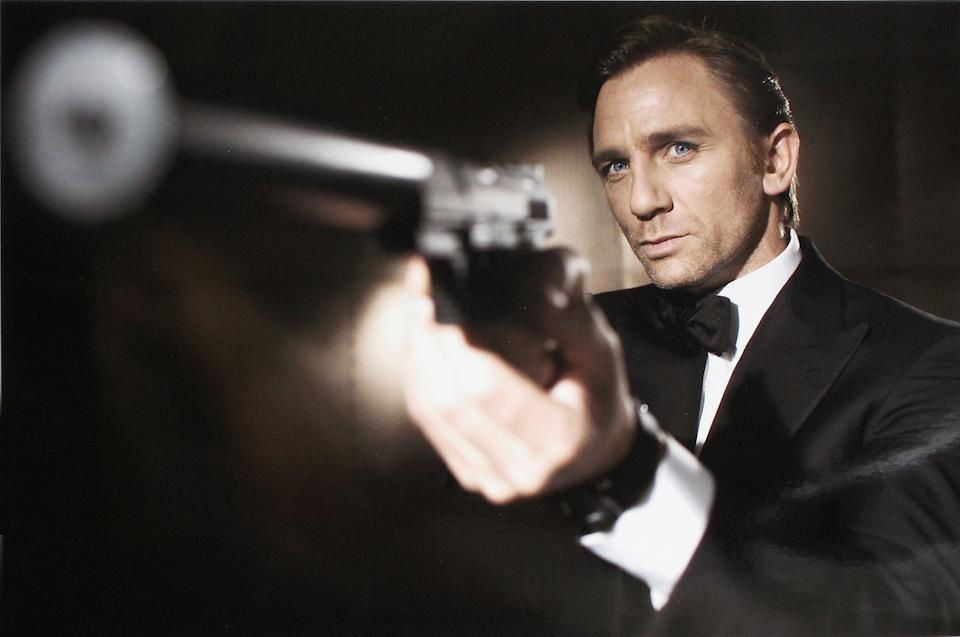 UNDATED:  In this undated handout photo from Eon Productions, actor Daniel Craig poses as James Bond.  Craig was unveiled as legendary British secret agent James Bond 007 in the 21st Bond film Casino Royale, at HMS President, St Katharine's Way on October 14, 2005 in London, England.  (Photo by Greg Williams/Eon Productions via Getty Images)
