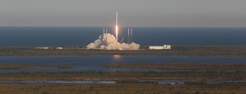 A SpaceX Falcon 9 rocket carrying a TESS spacecraft lifts off on Wednesday, April 18, 2018, from Space Launch Complex 40 at Cape Canaveral Air Force Station in Florida. TESS, which stands for Transiting Exoplanet Survey Satellite, is a telescope/camera that will hunt for undiscovered worlds around nearby stars, providing targets where future studies will assess their capacity to harbor life, NASA says. (Photo by Red Huber/Orlando Sentinel/TNS/Sipa USA)