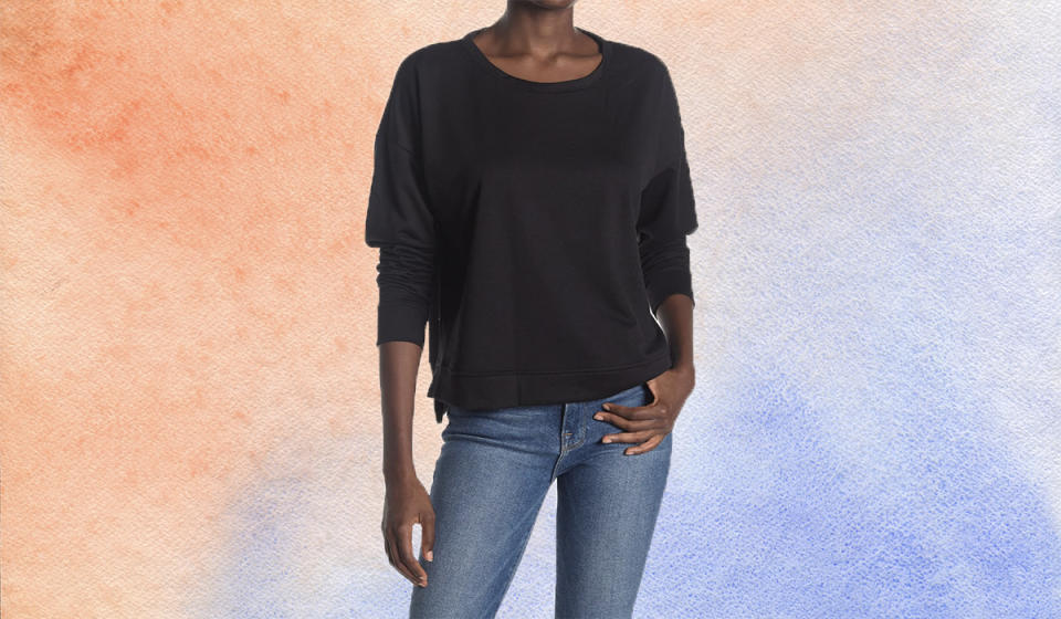 This gorgeous sweatshirt comes in three neutral shades. (Photo: Nordstrom Rack)