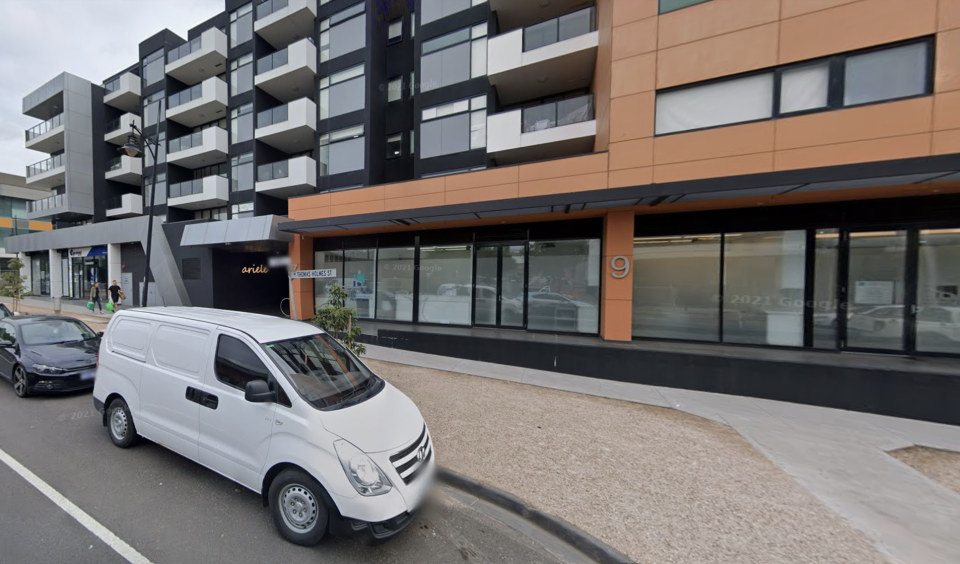Pictured is the Ariele Apartments on 7 Thomas Holmes St Maribyrnong in Victoria