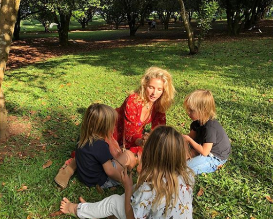 Chris Hemsworth's wife Elsa Pataky and their children, India, 7 and twins Sasha and Tristan, 5
