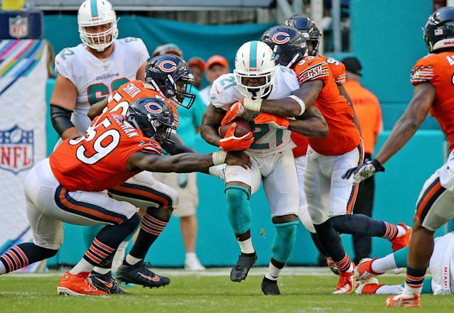 Frank Gore ran for 101 yards in an overtime victory against the Bears this month. (Getty Images)