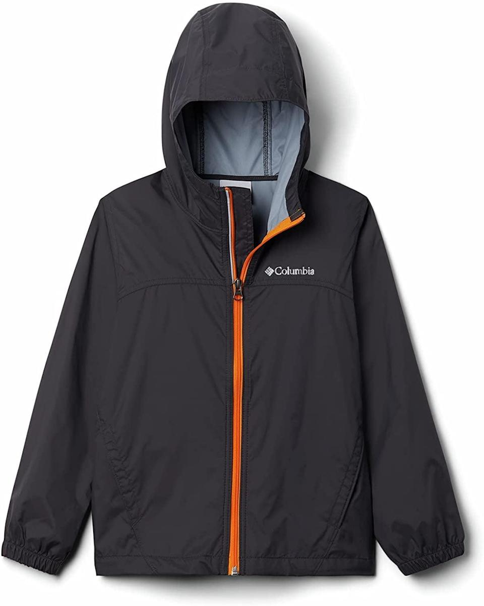 <p>The <span>Columbia Girls' Switchback II Waterproof Jacket</span> ($30) and <span>Columbia Boys' Glennaker Rain Jacket</span> ($30) are durable and perfect to have on hand. These can even be stored in the bottom of your kid's bag just in case it rains at recess or before they hop on the bus.</p>