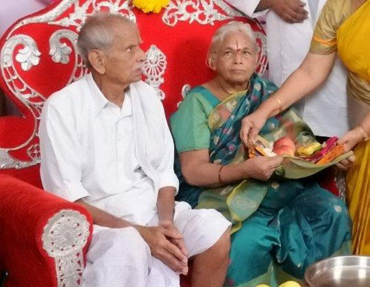 After being married for 57 years, Raja Rao's deepest wish was to become a father, but just one day after the birth, he had a heart attack. His current condition is not known. (SWNS)