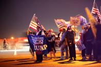 """""""Stop the Steal"""" protest at Clark County Election Center in North Las Vegas"""
