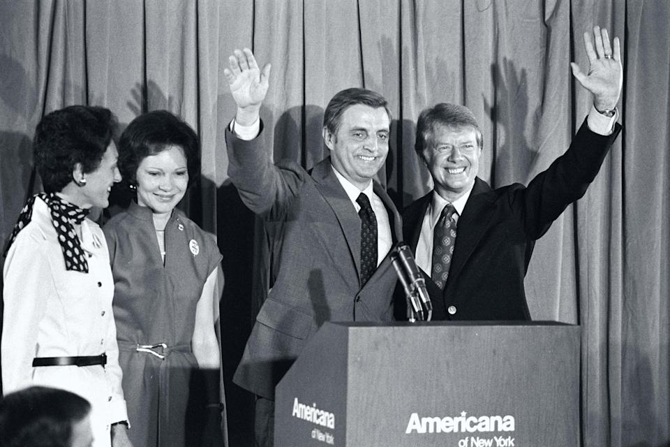 Image: Carter and Mondale with Wives (Owen Franken / Corbis via Getty Images file)