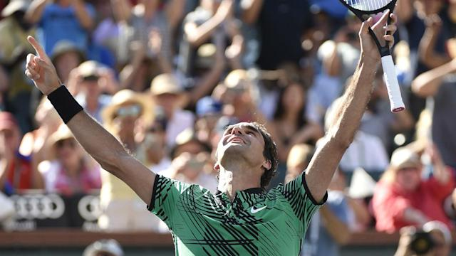 A fifth BNP Paribas Open title maintained Roger Federer's rise up the rankings as the Swiss maestro continues to roll back the years.