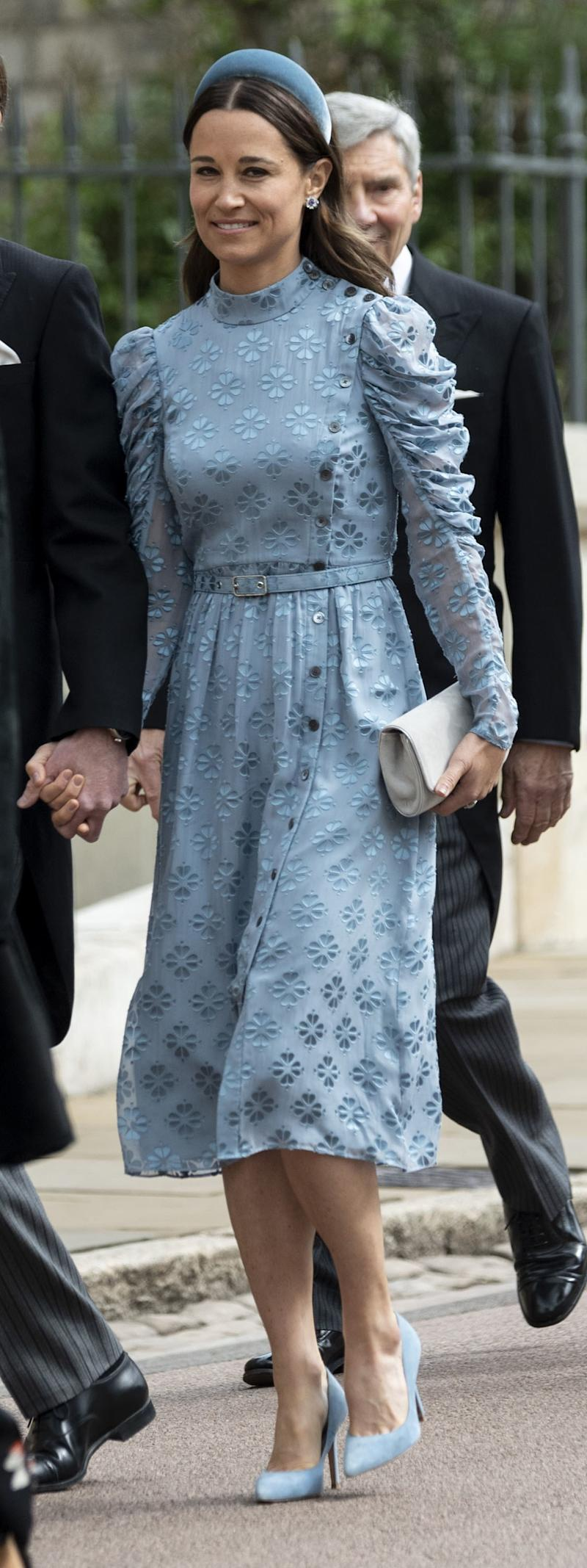 WINDSOR, ENGLAND - MAY 18: Pippa Matthews attends the wedding of Lady Gabriella Windsor and Mr Thomas Kingston at St George's Chapel, Windsor Castle on May 18, 2019 in Windsor, England. (Photo by Mark Cuthbert/UK Press via Getty Images)