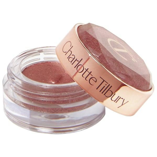 <p>This creamy <span>Charlotte Tilbury Walk of No Shame Jewel Pot Eyeshadow</span> ($35) sparkles with actual diamond powder (and pearl pigments) inside. </p>